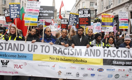 Stand Up To Racism/Unite Against Fascism counter-demonstration