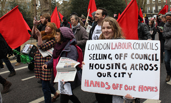 Protesters march against Labour social cleansing