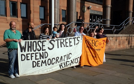 Defence campaign protest