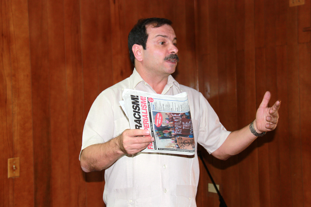 Fernando Gonzalez from the Cuban Five meets the brigadistas