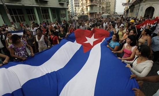 Young Cubans defend the revolution