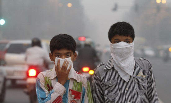 Air pollution in Delhi, India