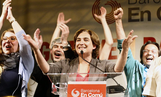 The new mayor of Barcelona, anti-eviction activist Ada Colau