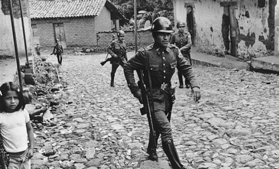 Government troops in El Salvador