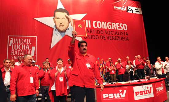 President Maduro addresses July's PSUV Congress
