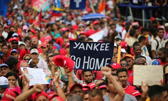 Venezuelans protest against US interference