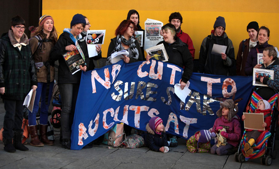 Newcastle FRFI supports the campaing to stop cuts in Sure Start provision