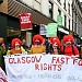 Glasgow fast food workers strike for better pay and conditions