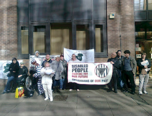 Glasgow against ATOS picket