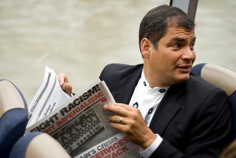 President Rafael Correa in London, 28 Oct 2009