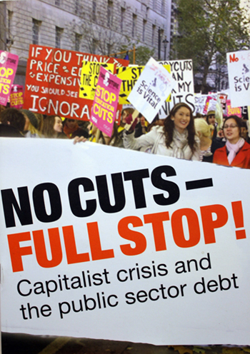 No cuts - Full stop! Pamphlet