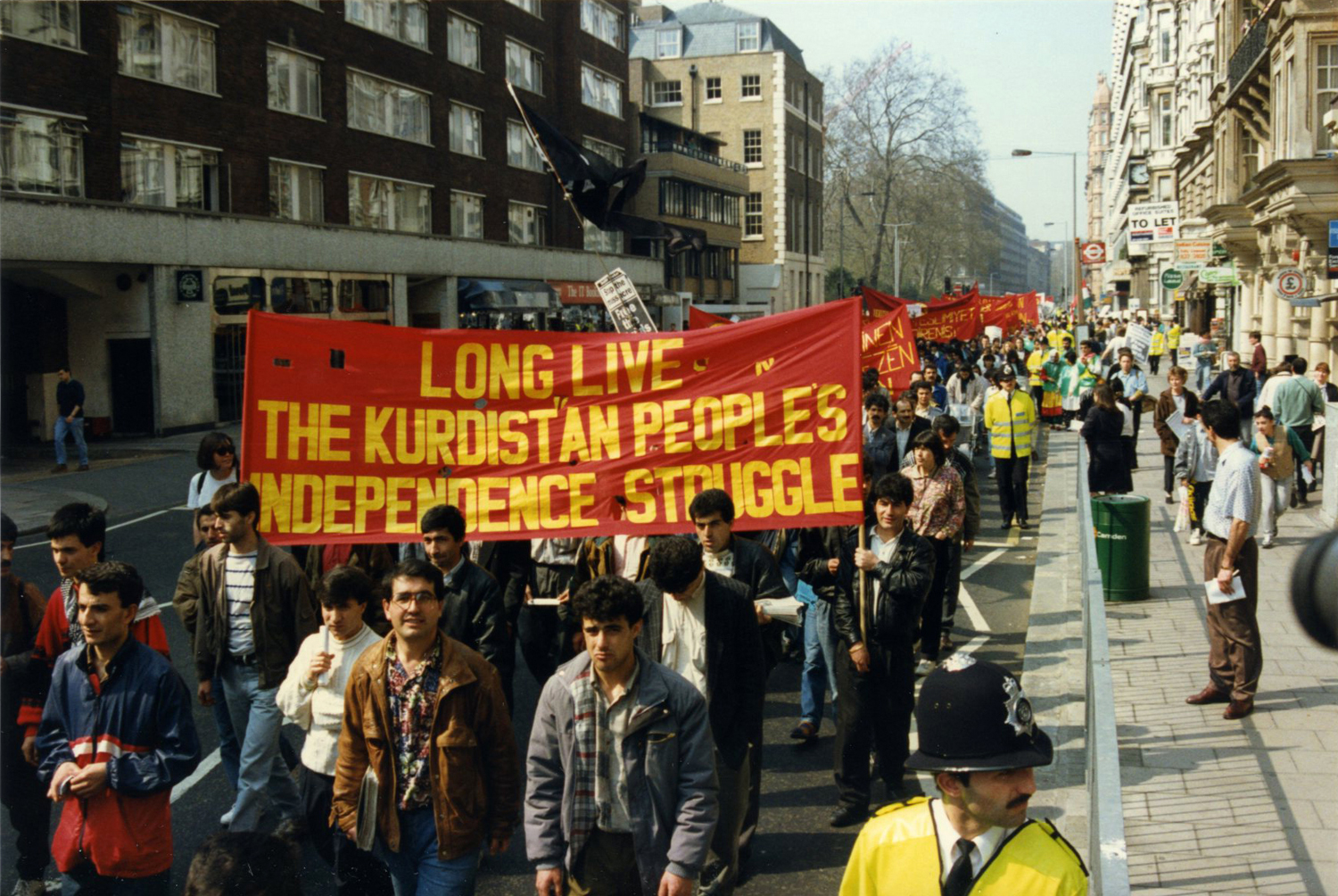 Demonstration in London against attacks on the Kurds, 1991
