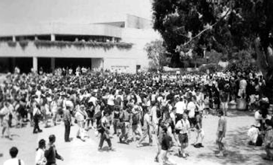 UCLA rally after Rodney King verdict
