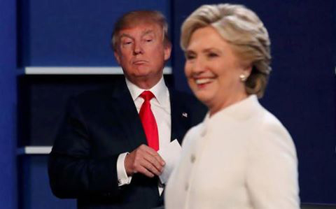 tump and hilary