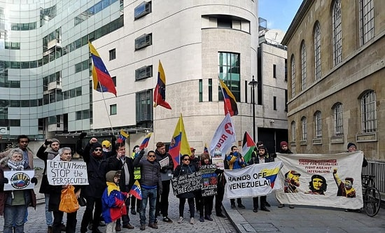 RCG protest at BBC Broadcasting House, London, 2 February 2019
